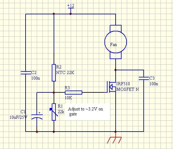 Схема управления вентилятором для пк