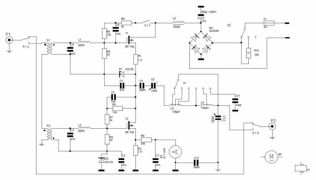 Двухтактные усилители низкой частоты (PP)